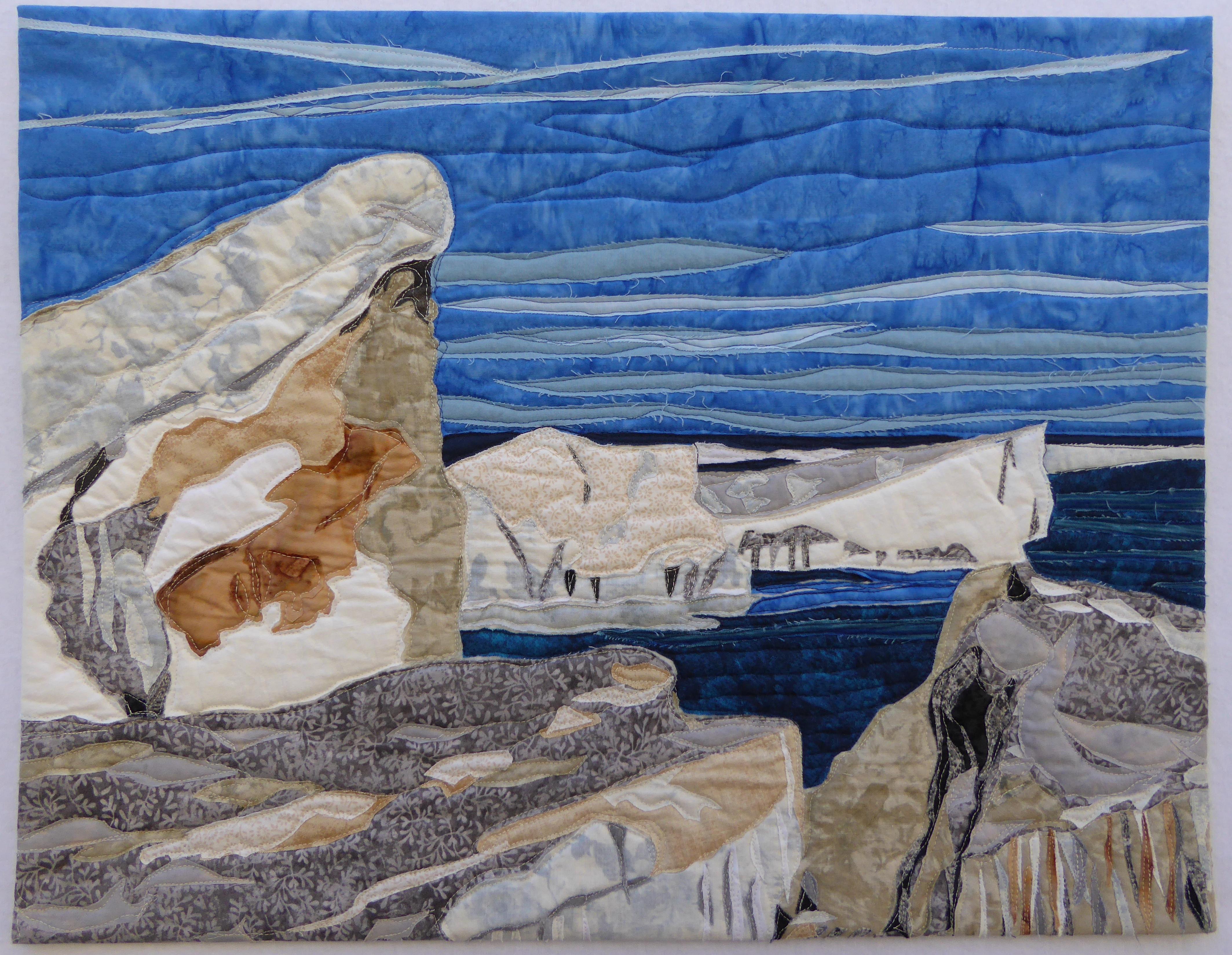 Sheboygan Ice, 17H x 21W, Textile, $600